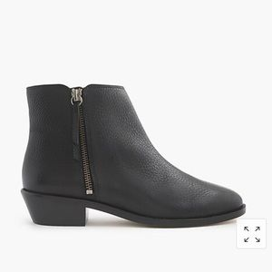 J.Crew, new Frankie tumbled leather ankle boots